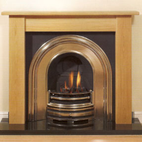 Gladstone Solid Oak Mantel