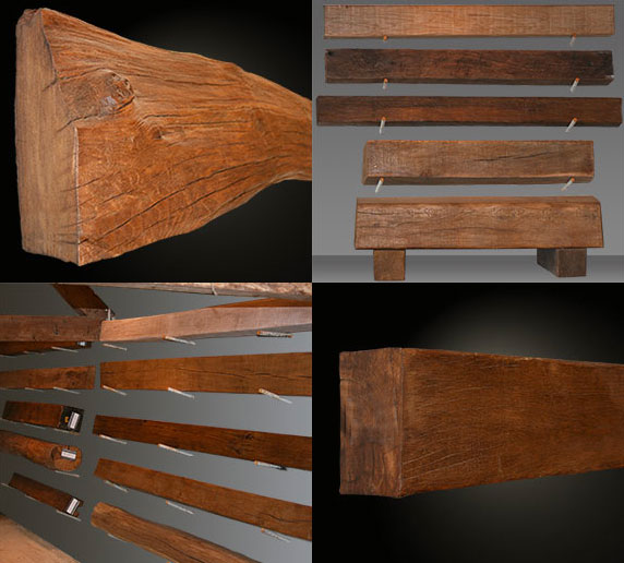 Oak Fireplace Beams